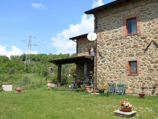 The apartment is inside the farm, located in a small village of 1300