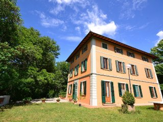 A part of a beautiful mansion with view of the Chianti Classico hills
