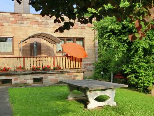 Semi-detached holiday home in northern Hesse with private entrance, terrace and