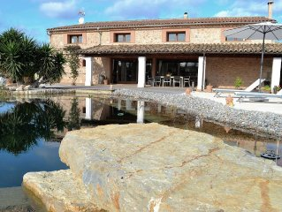 Tasteful holiday home in the style of Mallorca with ecological private pool.