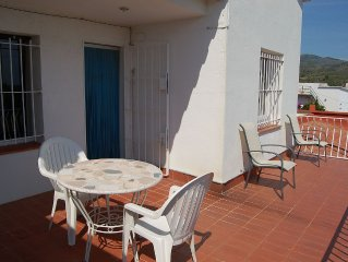 Apartment with large sunny terrace, 300 meters away from La Farella beach and 5
