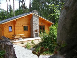 Holiday wood lodge in the forest