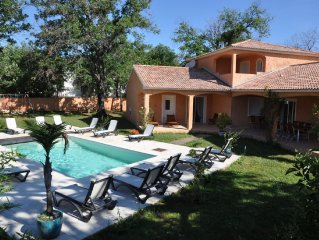 Superb spacious villa, 300m from the beach, in Corsica.