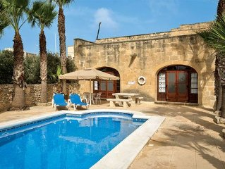 Charming, tranquil villa with a pool and Wi-Fi located outside a village close