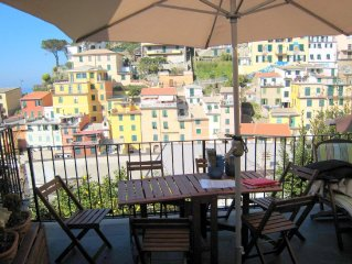Cinqueterre, Italian Riviera, holiday home with magnificent views.