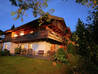 A holiday home for 2-4 persons with sauna, solarium and view of the Alps.
