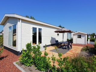 Comfortable detached chalet located on a holiday park with a swimming pool not