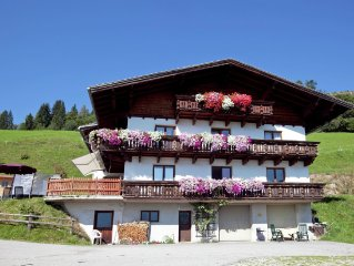 A holiday home next to an organic farm, in a quiet area in Wagrain.