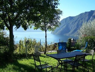 Beautiful and nicely furnished apartment with view of Lake Iseo.