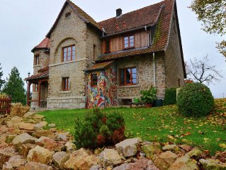 Particular, with ecological materials renovated villa with artistic atmosphere
