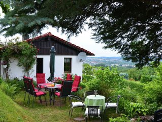 Detached holiday house in Thuringian Forest with garden and unique view