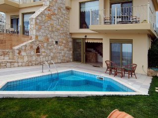 Villa, private pool in ancient fishing village of Agia Pelagia, 500m sea