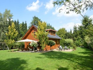 Beautiful wooden villa on a large private site on the Veluwe