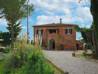 Organic agriturismo with panoramic view and pool