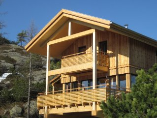 Detached design chalet with sauna and outside jacuzzi on the Turracher Hohe.