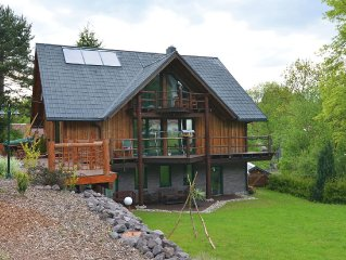 Modern apartment in Thuringian Forest with fireplace, infrared sauna and terrace