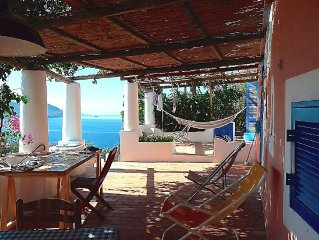 Top romantic dream house with lovely terrace and large garden with sea views