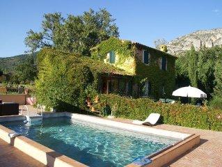 Villa in Moustiers-ste. Marie near to the Canyon du Verdon and Lac de Ste. Croix