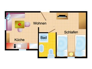 Apartment with terrace (patio) - House Scheel
