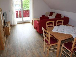 Ferienwohnung Buchkopfblick, 69qm, 1 Schlafzimmer, max. 4 Personen-Wohnraum Buchkopfblick