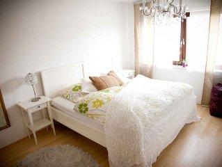 Schone, stilvoll eingerichtete Nichtraucherwohnung, 59qm, 1 Schlafzimmer, max. 4