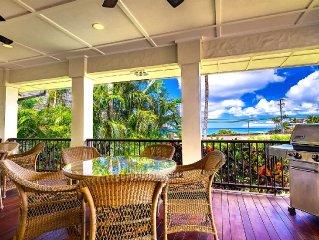 Makala'e: Luxurious 5 bed/5 bath Ocean View Villa!