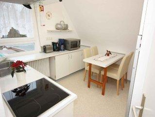 Ferienwohnung, 50qm, 1 Schlafzimmer, 1 Wohn-/Schlafzimmer, max. 3 Personen