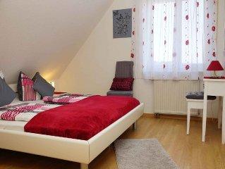 Ferienwohnung 1, 50qm, 1 Schlafzimmer, 1 Wohn-/Schlafzimmer, max. 2 Erwachsene u