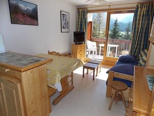 Beautiful two rooms near the slopes with garage