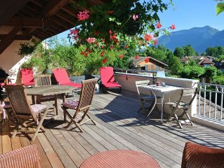 ST JORIOZ - BEAUSEJOUR. Grande Terrasse & VUE. - Apartment for 3 people in Sain