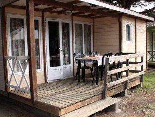 Camping Le Soleil Bleu**** - Chalet 3 Pieces 6 Personnes