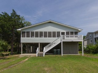 Weeks End - Updated Second Row Beach Home w/ Tasteful Decor & Fenced Yard
