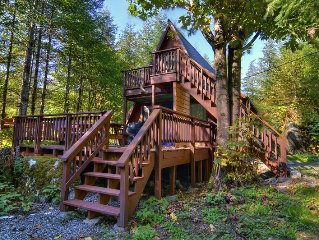 Classic A-Frame Style Cabin w/ Hot Tub! Rustic home with easy access to skiing