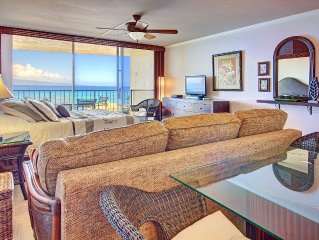 Penthouse Studio * Royal Kahana Ocean Resort, RELAX with Beautiful Views- w/A/C