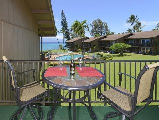 This condo has panoramic ocean views, steps away from the waters edge!