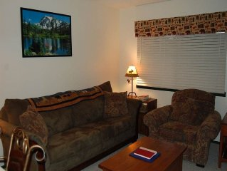 Downtown Winter Park 1 bedroom vacation rental with modern decor and open floor