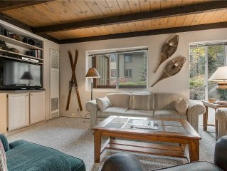 Walk to the Slopes from this Mountain Hideaway with Fantastic Common Area Pool a