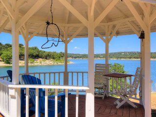 3/3.5 home with 185' of lake front on 2.5 acres of Hill Country Paradise!!