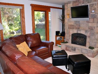Gorgeous East Vail 2 bedroom condo #402 on the Creek with Hot Tub.