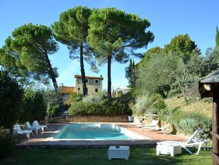 Large comfortable villa with garden and pool in the hills near Florence