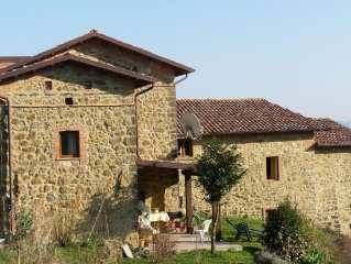 The apartment is inside a farm located in a small village dating  back to 1300