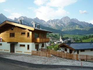 Modern holiday home with postcard view of the beautiful Maria Alm