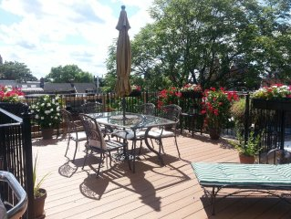Boston Penthouse. Private Roofdeck.  Best Location. Quiet tree-lined street.
