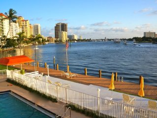 Stunning Waterfront Apartment One Block From Fort Lauderdale Beach
