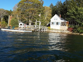 Stunning, private oceanfront cottage with dock/mooring