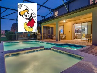 Mickey's Luxury Home NEAR DISNEY with Pool, Spa | Free Parking, WiFi, Waterpark