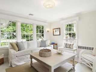 East Hampton Village:  Beautifully Renovated 3 Br Classic Cottage Walk To All