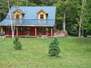 Secluded Luxurious Rustic Log Camp in the Heart of the Adirondacks: Camp Ankabos