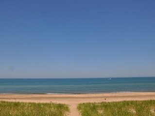 Lakefront Home with private beach close to downtown New Buffalo!