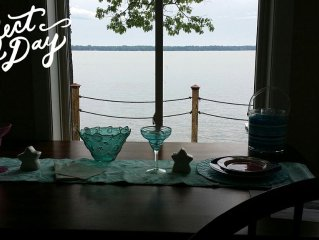 Lake Front Vacation Home In Lewiston, Sleeps 8, And Your Pet Is Welcome.